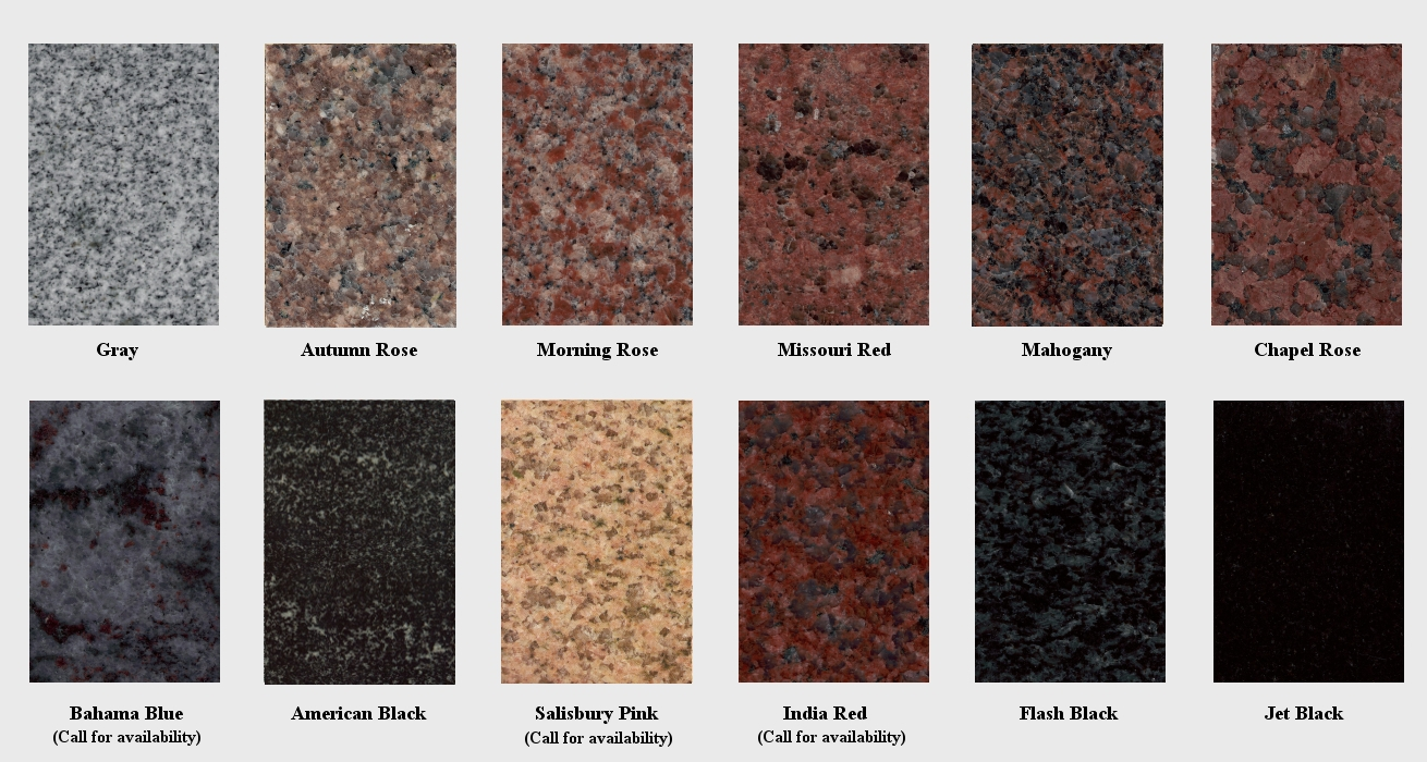 Marble Stone Names : Granite colors bbt